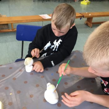 Painting Our Own Pottery At Hoots Summer Holiday Club (5)