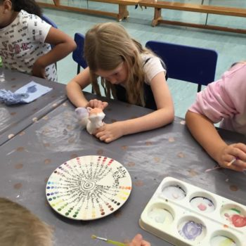 Painting Our Own Pottery At Hoots Summer Holiday Club (7)