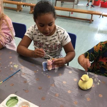 Painting Our Own Pottery At Hoots Summer Holiday Club (8)