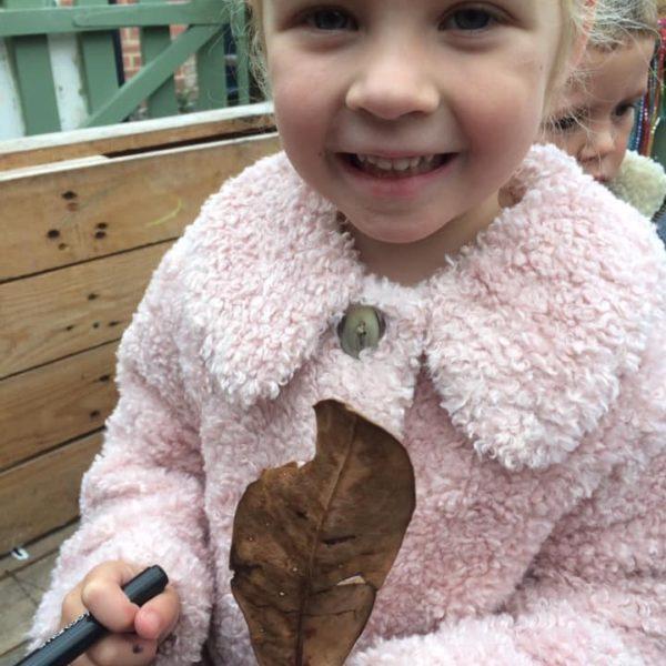 Leaf Faces Littleowls Nursery Norfolk (5)